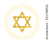 star form with gold glitter... | Shutterstock .eps vector #521748931