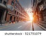 old shanghai at dusk  the... | Shutterstock . vector #521751079