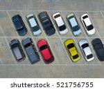 empty parking lots  aerial view.   Shutterstock . vector #521756755