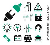 electricity icon set   Shutterstock .eps vector #521757334