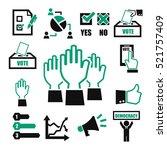 Democracy  Vote Icon Set