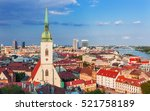view on bratislava city with st.... | Shutterstock . vector #521758189