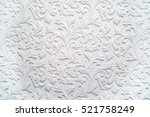 plaster background floral... | Shutterstock . vector #521758249