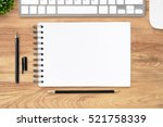 blank notebook page on top of... | Shutterstock . vector #521758339