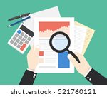 businessman hands holding a... | Shutterstock .eps vector #521760121