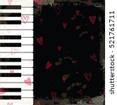 background with piano keys.... | Shutterstock .eps vector #521761711