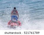 Jet Ski In The Sea.