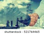 double exposure of businessman... | Shutterstock . vector #521764465
