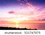bright horizon setting into the ... | Shutterstock . vector #521767075