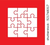 puzzle icon vector illustration | Shutterstock .eps vector #521768317