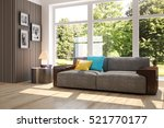 white room with sofa and green... | Shutterstock . vector #521770177
