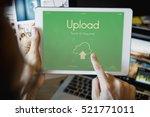 cloud computing networking... | Shutterstock . vector #521771011
