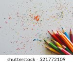 colorful of color pencils.      ... | Shutterstock . vector #521772109