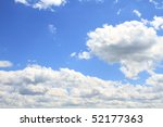 Cloudscape over beautiful blue skies. - stock photo