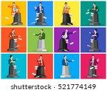 set stock vector of public... | Shutterstock .eps vector #521774149
