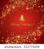 red christmas background with... | Shutterstock . vector #521774245
