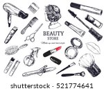 beauty store background with...