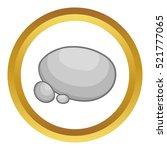 Gray Stones Vector Icon In...