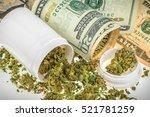 marijuana buds on money | Shutterstock . vector #521781259