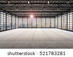 3d rendering interior empty... | Shutterstock . vector #521783281