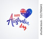 happy australia day lettering... | Shutterstock .eps vector #521783641