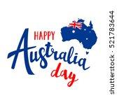 Happy Australia Day Lettering....