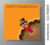 happy thanksgiving celebration... | Shutterstock . vector #521783845