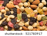 dried fruits and nuts... | Shutterstock . vector #521783917