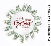 christmas tree isolate on white ... | Shutterstock . vector #521785171