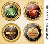 doner kebab badges | Shutterstock .eps vector #521790181