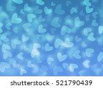 valentine's day. blue... | Shutterstock . vector #521790439
