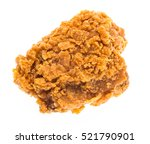 fried chicken isolated on white ... | Shutterstock . vector #521790901