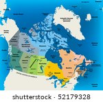 canada map | Shutterstock .eps vector #52179328