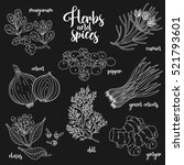 spices and herbs vector set to... | Shutterstock .eps vector #521793601