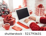 santa claus preparing for... | Shutterstock . vector #521793631