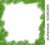 natural christmas square frame... | Shutterstock .eps vector #521801854