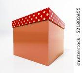 Red Cardboard Gift Box ...