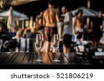 two glasses of white or red... | Shutterstock . vector #521806219