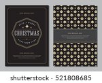 christmas greeting card or... | Shutterstock .eps vector #521808685