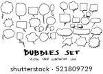 vector of hand drawn doodle... | Shutterstock .eps vector #521809729