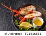 grill and barter lemon source... | Shutterstock . vector #521816881