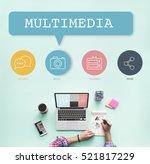 social media buttons icons    Shutterstock . vector #521817229