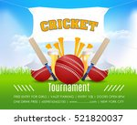 cricket vertical poster event... | Shutterstock .eps vector #521820037