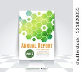 low poly brochure  a4 flyer... | Shutterstock .eps vector #521820055