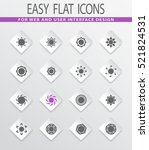 sun easy flat web icons for... | Shutterstock .eps vector #521824531