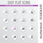 real estate easy flat web icons ... | Shutterstock .eps vector #521826145