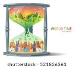 hourglass ecology concept...   Shutterstock .eps vector #521826361