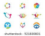 community care logo  | Shutterstock .eps vector #521830831