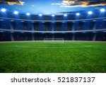 the soccer stadium with the... | Shutterstock . vector #521837137