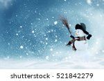 new year greeting card with... | Shutterstock . vector #521842279